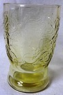 "Madrid Amber Water Tumbler 9 oz 4.25"" Federal Glass Company"