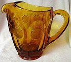 "Coin Amber Pitcher 6 3/16"" 32 oz Fostoria Glass Company"
