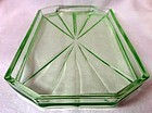 Green Glass Tray 9 x 4.75""