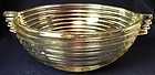 "Manhattan Crystal Bowl 7.5"" Closed Handle Hocking Glass Company"