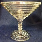 "Manhattan Crystal Comport 5.75"" Hocking Glass Company"