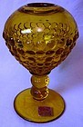 "Yesteryear Amber Ivy Ball 5.5"" Viking Glass Company"