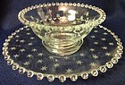 Candlewick Starlight Crystal Mayonnaise Set Imperial Glass Company
