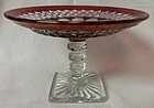 "Wakefield Red Stained Tid Bit Comport 3.75"" Westmoreland Glass"