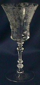 "Rose Point Crystal 3500 Goblet 8 3/8"" Cambridge Glass Company"