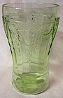 "Cameo Green Tumbler 5.25"" 15 oz Flat Hocking Glass Company"