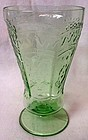"Patrician Green Footed Tumbler 5.25"" 8 oz Federal Glass Company"