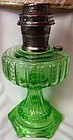 Cathedral Green Oil Lamp Aladdin Mantle Lamp Company