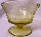 Patrician Amber Sherbet Federal Glass Company