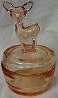 Bambi Pink Deer Powder Jar