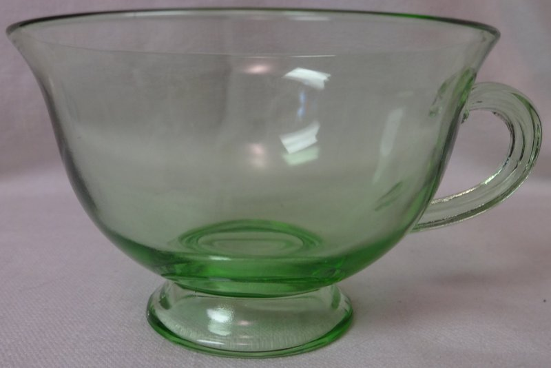Pioneer Green Cup Fostoria Glass Company
