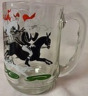 "Tally Ho Mug 4 7/8"" Hazel Atlas Glass Company"
