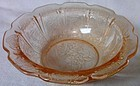 "Cherry Blossom Pink Berry Bowl 4.75"" Jeannette Glass Company"