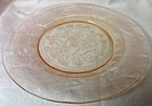 "Dogwood Pink Dinner Plate 9.25"" MacBeth Evans Glass Company"