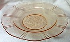 "American Sweetheart Pink Flat Soup Bowl 9.5"" Mac Beth Evans Glass"