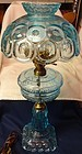 "Moon and Star Blue Electric Lamp 24"" L G Wright"