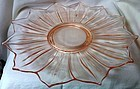 "Lotus Pink Plate 13.5"" Flared Westmoreland Glass Company"