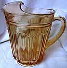 "Colonial Pink Pitcher 8"" 68 oz Hocking Glass Company"