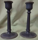 "Helio Pair Candlesticks 6.25"" Cambridge Glass Company"