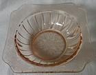 "Adam Pink Dessert Bowl 4.75"" Jeannette Glass Company"