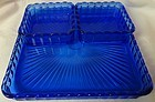 Cobalt 8 x 8 Tray with 2 4 x 4 Trays