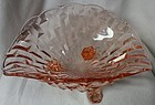 "Frances Pink Bowl 3 Footed 10"" Central Glass Company"