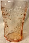 "Patrician Pink Water Tumbler 4.25"" 9 oz Federal Glass Company"