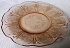 "Cherry Blossom Pink Sherbet Plate 6"" Jeannette Glass Company"