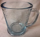 Sapphire Blue Mug Fire King Anchor Hocking Glass