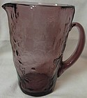 "Crinkle Amethyst Martini Pitcher 6.5"" 34 oz Morgantown Glass Company"