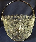 Chintz Crystal Ice Bucket Fostoria Glass Company