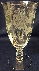 "Rose Crystal Ice Tea Footed 12 oz 6.75"" Heisey Glass Company"