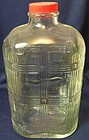 "Criss Cross Crystal Bottle 10"" 64 oz Hazel Atlas Glass Company"