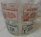 "Drink Receipt Ice Bucket 4.75 Tall 5.75"" Across Hazel Atlas Glass"