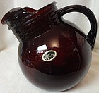 "Royal Ruby Pitcher Tilted 6"" 24 oz Juice Hocking Glass Company"
