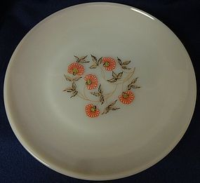 "Fleurette Dinner Plate 9 1/8"" Fire King Anchor Hocking Glass Company"