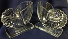 Nautilus Crystal Bookend Pair New Martinsville Glass Company
