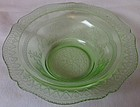 "Patrician Green Cereal Bowl 6"" Federal Glass Company"