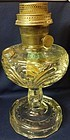 Washington Drape Plain Stem Crystal Oil Lamp Aladdin Mantle Lamp