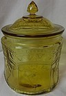 Patrician amber Cookie Jar and Lid Federal Glass Company
