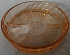 Cherry Blossom Pink Coaster Jeannette Glass Company