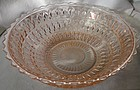 "Holiday Pink Large Berry Bowl 8.5"" Jeannette Glass Company"