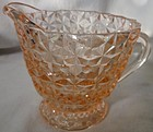 Holiday Pink Creamer Jeannette Glass Company
