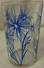 "Cornflower #2 Dark Blue 3.5"" Swanky Swig Hazel Atlas Glass Company"