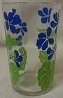 "Posy Violets 3.5"" Swanky Swig Hazel Atlas Glass Company"