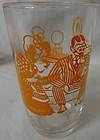 """Bustlin Betty Orange 3.5"""" Swanky Swig Hazel Atlas Glass Company"""