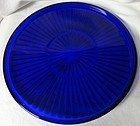 "Tray Cobalt 10.5"" New Martinsville Glass Company"