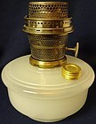 Model B White Moonstone Oil Lamp Font Aladdin Mantle Lamp Company