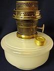 Model B White Moonstone Oil Lamp Font Aladdin Mantle Lamp Company