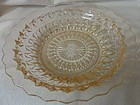 """Holiday Pink Soup Bowl 7.75"""" Jeannette Glass Company"""